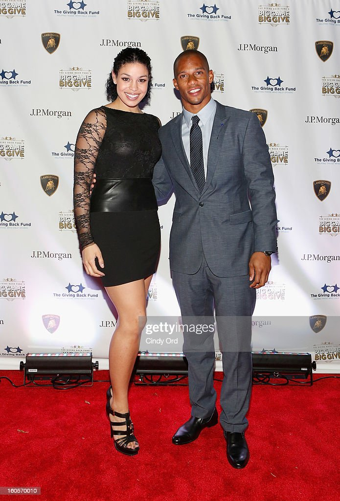 Musician Jordin Sparks and NFL player Victor Cruz attend The Giving Back Fund's 4th Annual Big Game Big Give Super Bowl Celebration on February 2, 2013 in New Orleans, Louisiana.