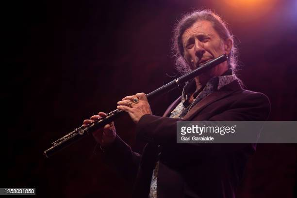 Musician Jorge Pardo performs on stage during 55th edition of the Heineken Jazzaldia Festival on July 24 2020 in San Sebastian Spain This year the...
