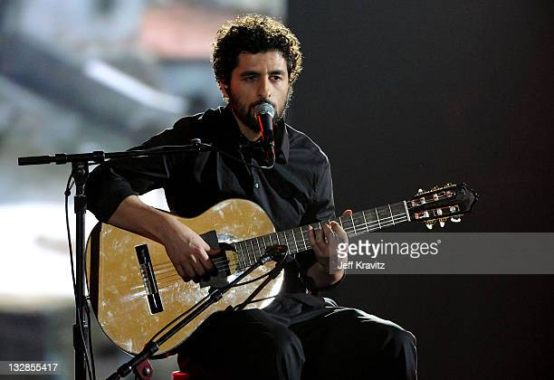 """Musician Jose Gonzalez performs onstage during Spike TV's """"2010 Video Game Awards"""" held at the LA Convention Center on December 11, 2010 in Los..."""