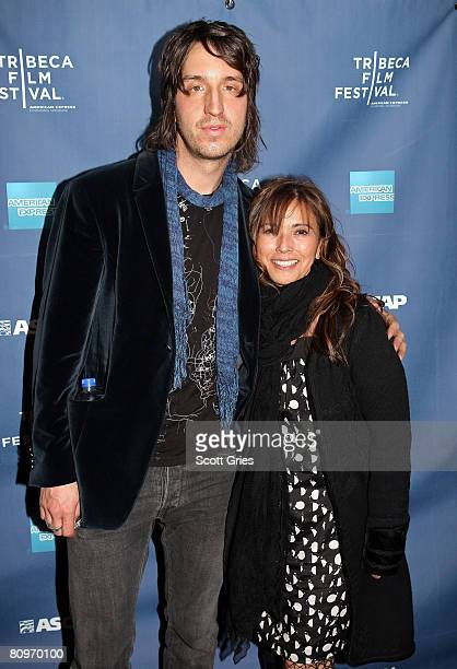 Musician Joseph Arthur and Loretta Munoz of ASCAP pose at the Tribeca ASCAP Music Lounge held at the Canal Room during the 2008 Tribeca Film Festival...