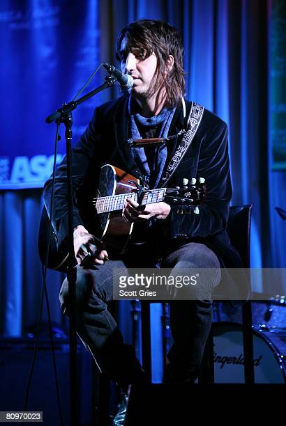 Musician Joseph Arthur performs at the Tribeca ASCAP Music Lounge held at the Canal Room during the 2008 Tribeca Film Festival on May 2 2008 in New...