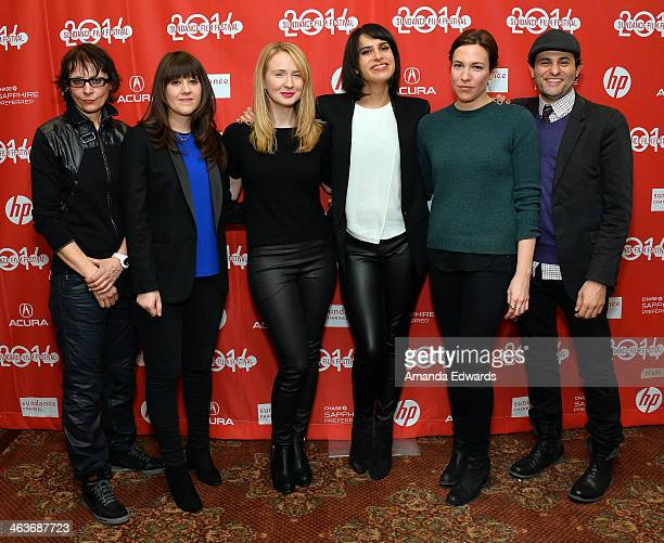 Musician Josephine Wiggs, Producer Cecilia Frugiuele, Actress Halley Feiffer, Director Desiree Akhavan, Actress Rebecca Henderson and Actor Arian...