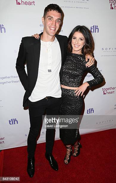 Musician Josh Beech and wife actress Shenae GrimesBeech attend together1heart launch party hosted by AnnaLynne McCord at Sofitel Hotel on June 25...