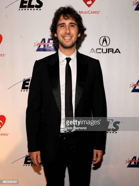Musician Josh Groban arrives at 2010 MusiCares Person Of The Year Tribute To Neil Young at the Los Angeles Convention Center on January 29 2010 in...
