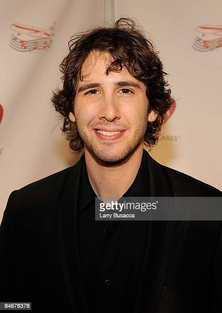 Musician Josh Groban arrives at the 2009 MusiCares Person of the Year Tribute to Neil Diamond at the Los Angeles Convention Center on February 6,...