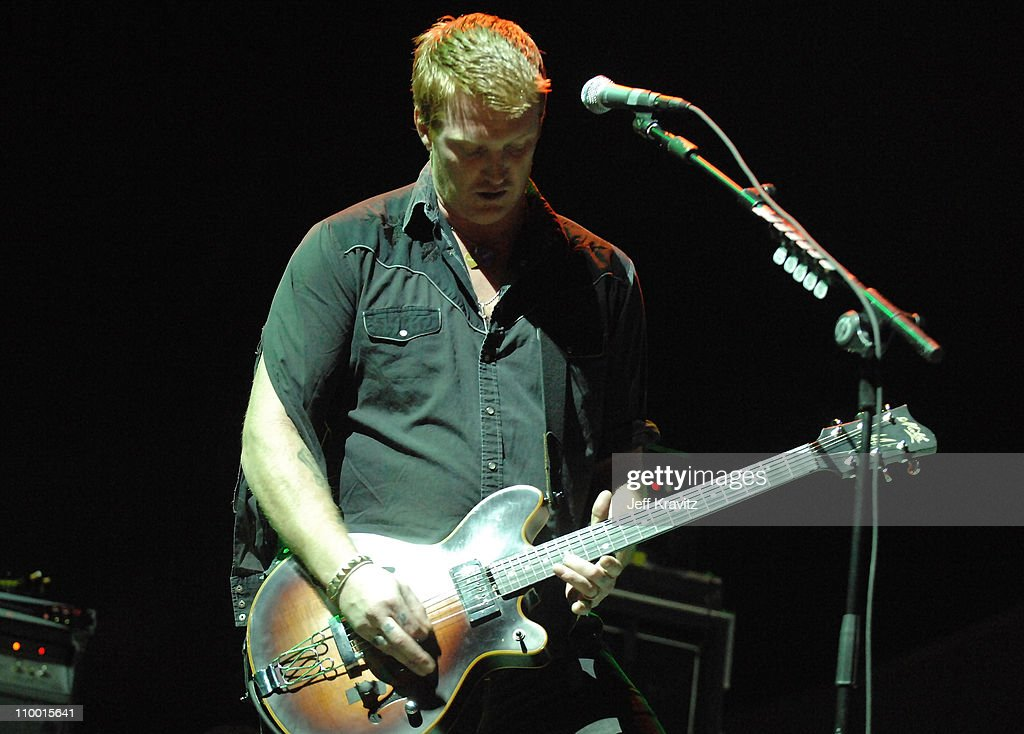 Musician Josh Homme from the band Queens of the Stone Age performs during the Vegoose Music Festival 2007 at Sam Boyd Stadium on October 27, 2007 in Las Vegas, Nevada.