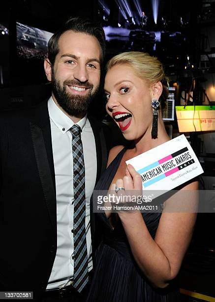 Musician Josh Kelley and actress Katherine Heigl at the 2011 American Music Awards held at Nokia Theatre LA LIVE on November 20 2011 in Los Angeles...
