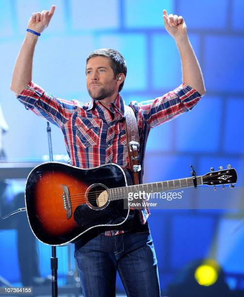 Musician Josh Turner performs onstage during the American Country Awards 2010 held at the MGM Grand Garden Arena on December 6 2010 in Las Vegas...