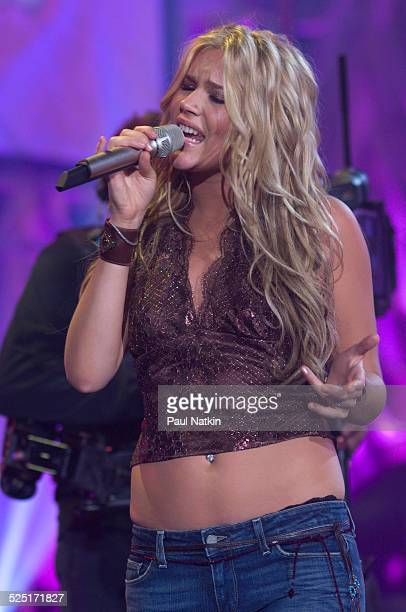 Musician Joss Stone as she performs during a Soundstage concert for WTTW television Chicago Illinois August 24 2005