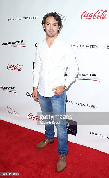 Musician Jourdain Lafleur arrives at the Accelerate4Change charity event presented by Dr Ben Talei Cinemoi on August 29 2015 in Beverly Hills...