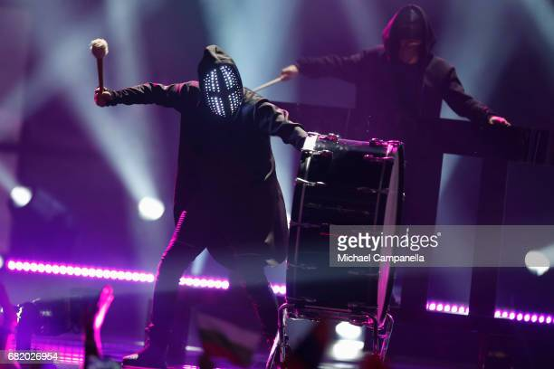 Musician JOWST representing Norway performs the song 'Grab The Moment' during the second semi final of the 62nd Eurovision Song Contest at...