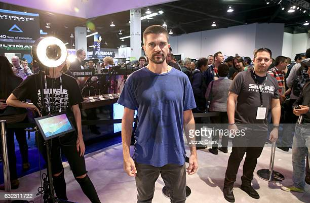Musician Juanes attends the 2017 NAMM Show at the Anaheim Convention Center on January 21, 2017 in Anaheim, California.
