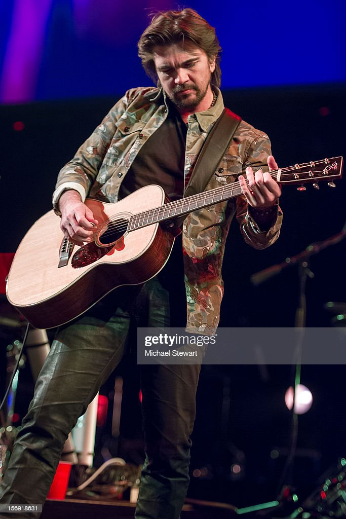 Musician Juanes performs during the Hurricane Sandy Benefit concert at the Barclays Center on November 24, 2012 in the Brooklyn borough of New York City.