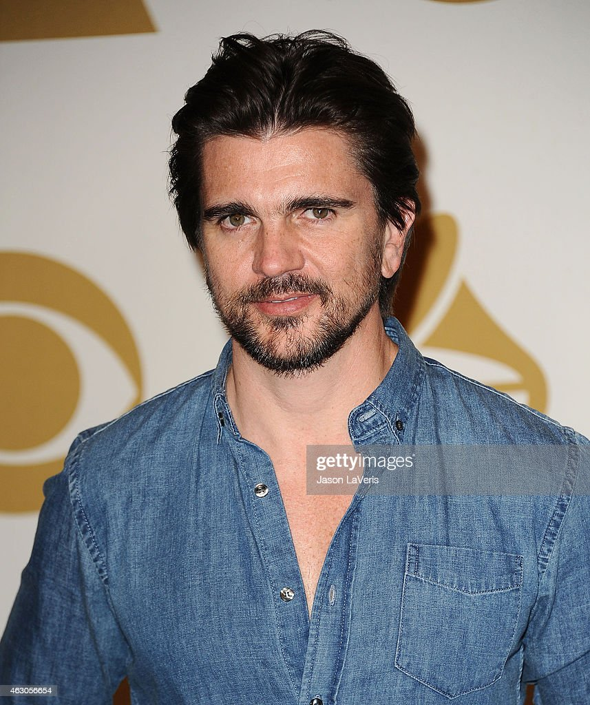 Musician Juanes poses in the press room at the 57th GRAMMY Awards at Staples Center on February 8, 2015 in Los Angeles, California.