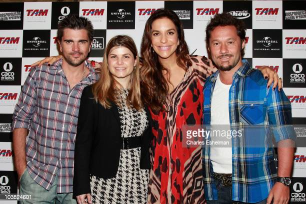 Musician Juanes TAM Airline Marketing Director Manoela singer Ivete Sangalo and musician Diego Torres attend the Multishow LiveIvete Sangalo at...