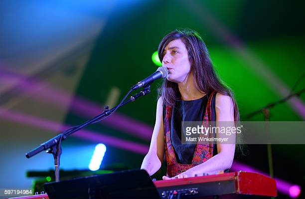 Musician Julia Holter performs onstage during FYF Fest 2016 at Los Angeles Sports Arena on August 28 2016 in Los Angeles California
