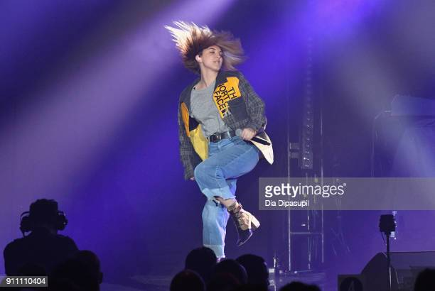 Musician Julia Michaels performs onstage during Sir Lucian Grainge's 2018 Artist Showcase presented by Citi with support from Remy Martin on January...
