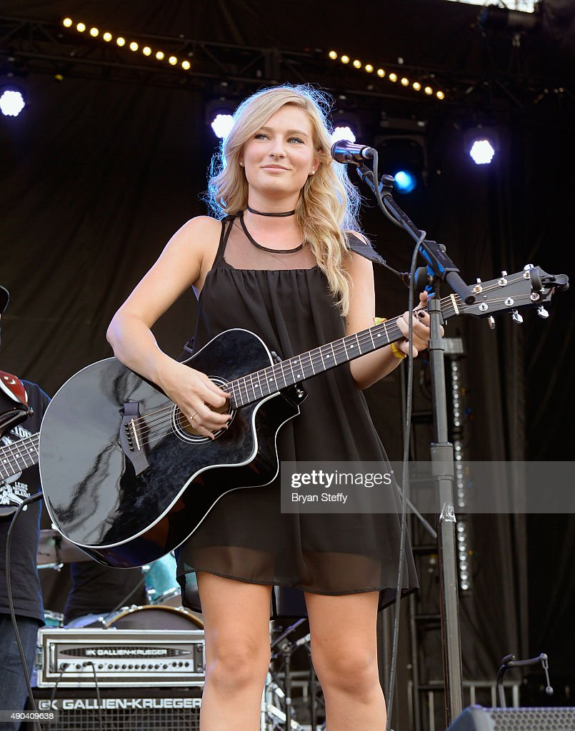 Musician Julia Tirinnanzi of Jill & Julia performs during the 2015 Life is Beautiful festival on September 27, 2015 in Las Vegas, Nevada.