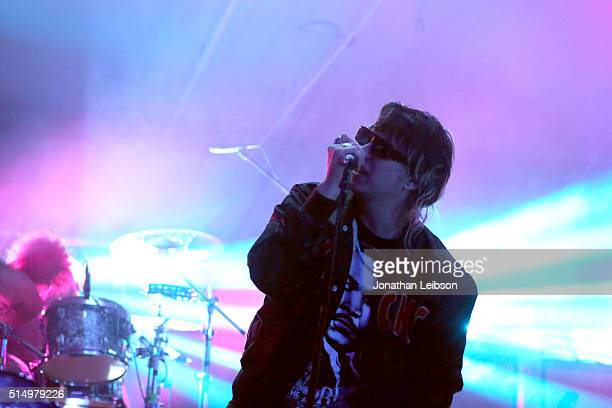 Musician Julian Casablancas of The Strokes performs onstage at Samsung Galaxy Life Fest at SXSW 2016 on March 11 2016 in Austin Texas
