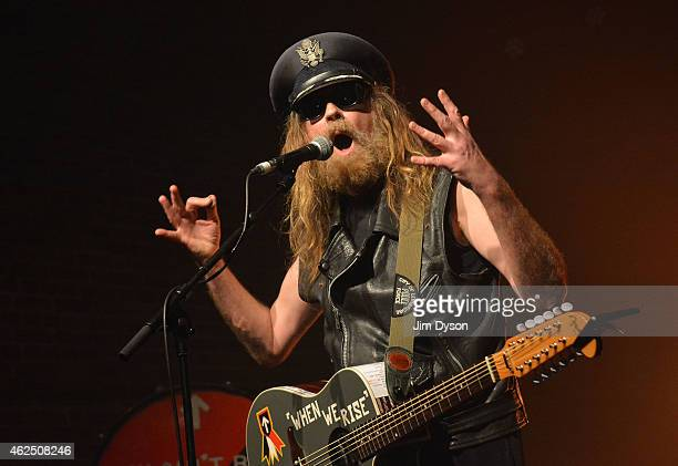 Musician Julian Cope performs live on stage at Village Underground on January 29 2015 in London United Kingdom