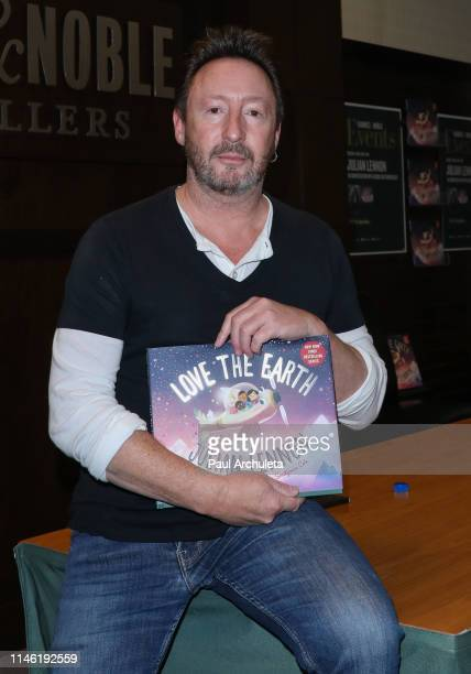 Musician Julian Lennon signs and discusses his new book Love the Earth at Barnes Noble at The Grove on April 30 2019 in Los Angeles California