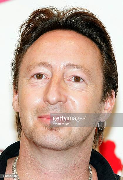 Musician Julian Lennon son of John Lennon poses after attending the gala premiere of The Beatles LOVE by Cirque du Soleil at The Mirage Hotel Casino...