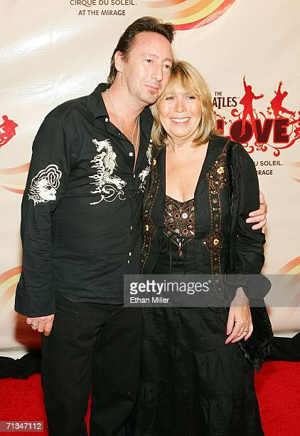 Musician Julian Lennon son of The Beatles' John Lennon and his mother Cynthia arrive at the gala premiere of The Beatles LOVE by Cirque du Soleil at...
