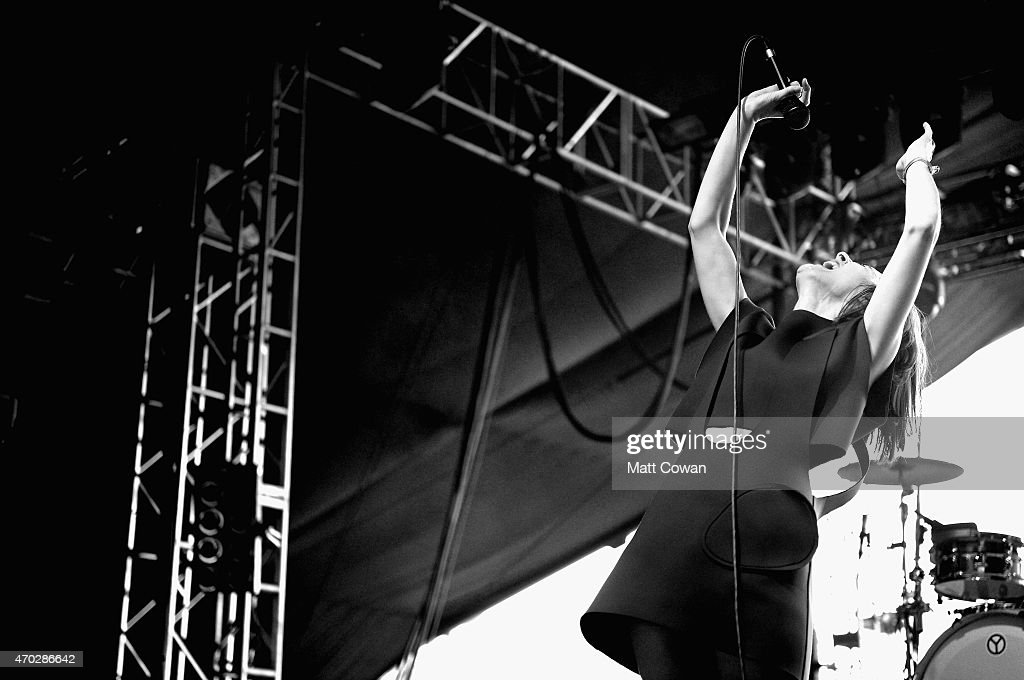 Musician Julie Budet of Yelle performs onstage during day 2 of the 2015 Coachella Valley Music And Arts Festival (Weekend 2) at The Empire Polo Club on April 18, 2015 in Indio, California.