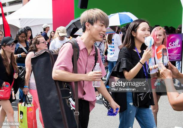 Musician Jun Sung Ahn attends KCON Day 2 2018 NY presented by Toyota at Prudential Center on June 24 2018 in Newark New Jersey