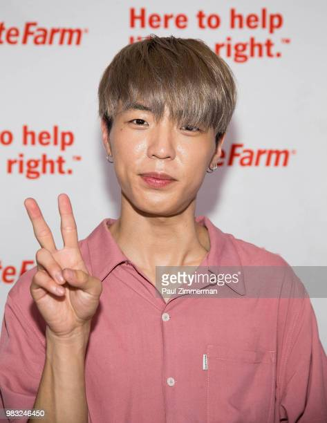 Musician Jun Sung Ahn poses at KCON Day 2 2018 NY presented by Toyota at Prudential Center on June 24 2018 in Newark New Jersey