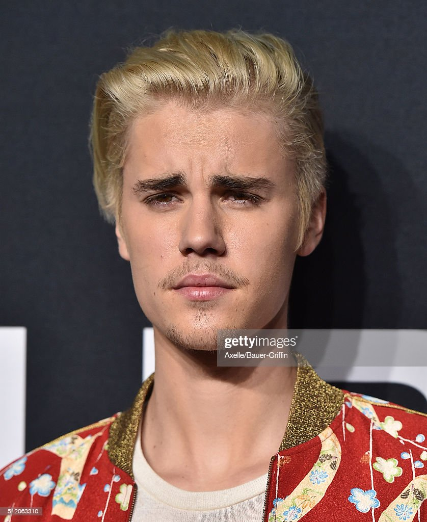 Musician Justin Bieber arrives at SAINT LAURENT At The Palladium at Hollywood Palladium on February 10, 2016 in Los Angeles, California.