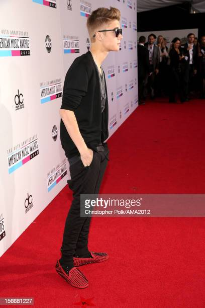 Musician Justin Bieber attends the 40th American Music Awards held at Nokia Theatre LA Live on November 18 2012 in Los Angeles California