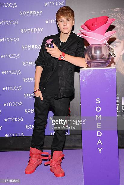 Musician Justin Bieber attends the Justin Bieber fragrance launch at Macy's Herald Square on June 23 2011 in New York City