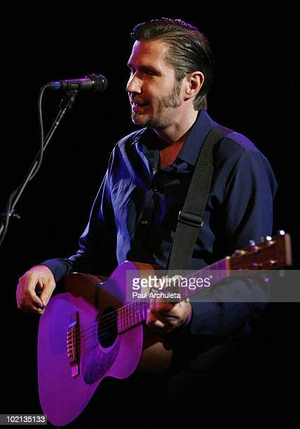 Musician Justin Currie performs live on stage at Troubadour on June 15 2010 in West Hollywood California