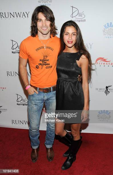 Musician Justin Gaston and TV personality Giglianne Braga attend the Runway Magazine Summer 2010 Issue Release Party at Drai's Hollywood on June 9...