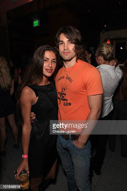 Musician Justin Gaston and TV personality Giglianne Braga attend the release party for Runway Magazine's Summer 2010 Issue at Drai's Hollywood on...