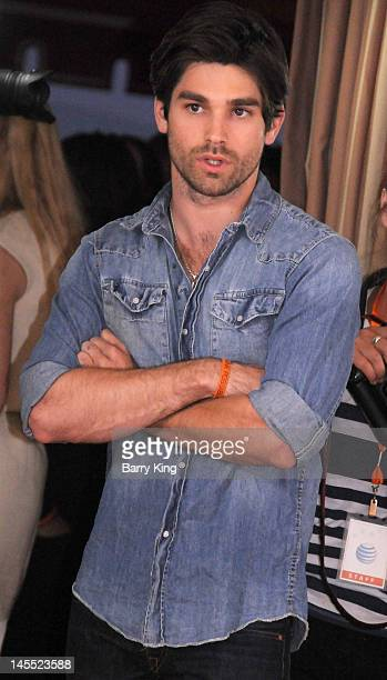 Musician Justin Gaston arrives at the Daybreak Los Angeles Premiere at the Sunset Tower on May 31 2012 in West Hollywood California