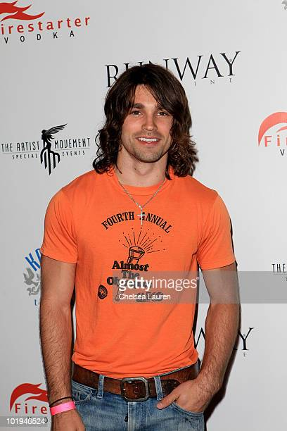 Musician Justin Gaston attends the release party for Runway Magazine's Summer 2010 Issue at Drai's Hollywood on June 9 2010 in Hollywood California