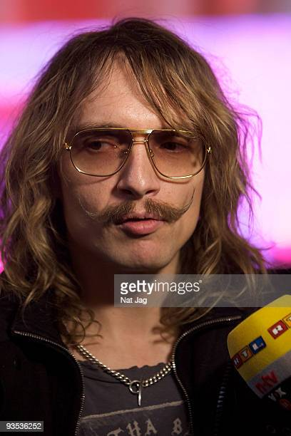 Musician Justin Hawkins attends the opening of the new Ed Hardy store at Westfield on December 1, 2009 in London, England.