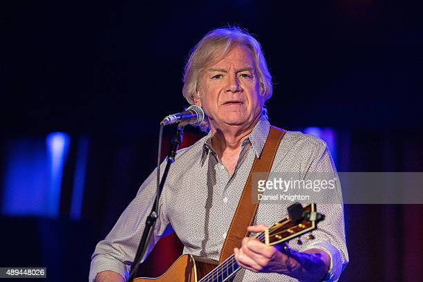Musician Justin Hayward performs on stage at Belly Up Tavern on September 20 2015 in Solana Beach California