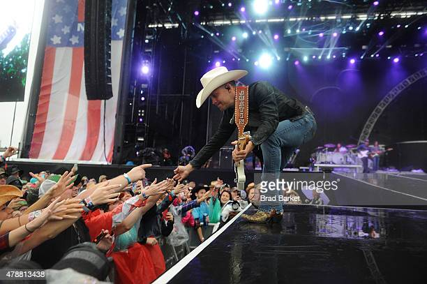 Musician Justin Moore performs at the 2015 FarmBorough Festival Day 2 at Randall's Island on June 27 2015 in New York City