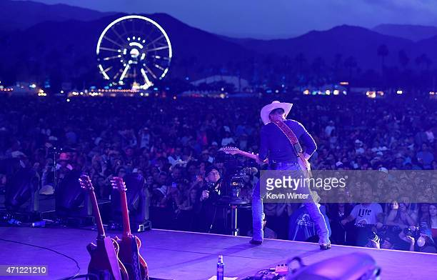 Musician Justin Moore performs onstage during day two of 2015 Stagecoach, California's Country Music Festival, at The Empire Polo Club on April 25,...