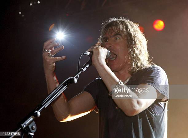 Musician Justin Sullivan of New Model Army perform at The Astoria December 20 2007 in London England