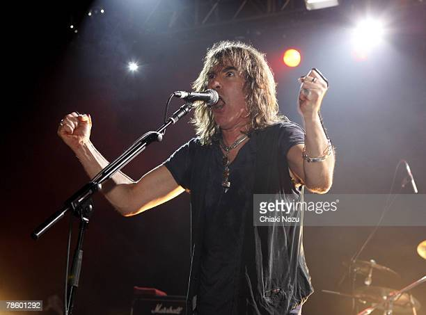 Musician Justin Sullivan of New Model Army perform at The Astoria December 20, 2007 in London England.