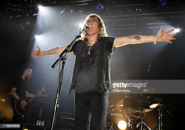Musician Justin Sullivan of New Model Army performs at The Astoria December 20 2007 in London England