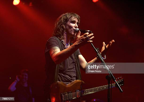 Musician Justin Sullivan of New Model Army performs at The Astoria, December 20, 2007 in London England.