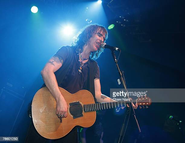 Musician Justin Sullivan of New Model Army performs at The Astoria December 20, 2007 in London England.
