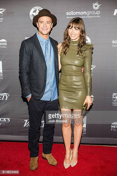 """Musician Justin Timberlake and actress Jessica Biel attend the New Orleans Premiere of """"The Book of Love"""" at the Entergy Giant Screen Theater on..."""