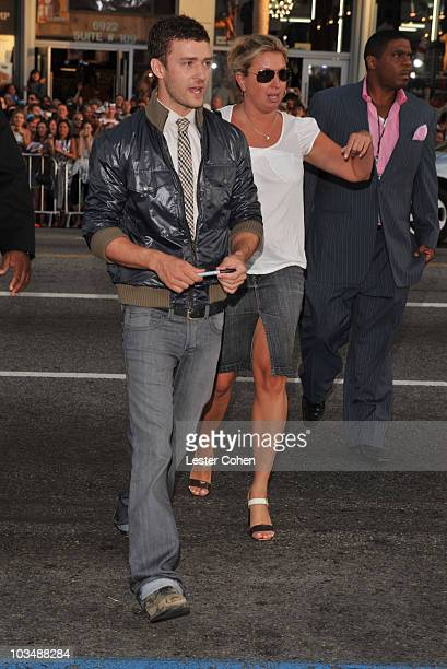 Musician Justin Timberlake arrives at the Los Angeles Premiere of The Love Guru at Grauman's Chinese Theatre on June 11 2008 in Hollywood California