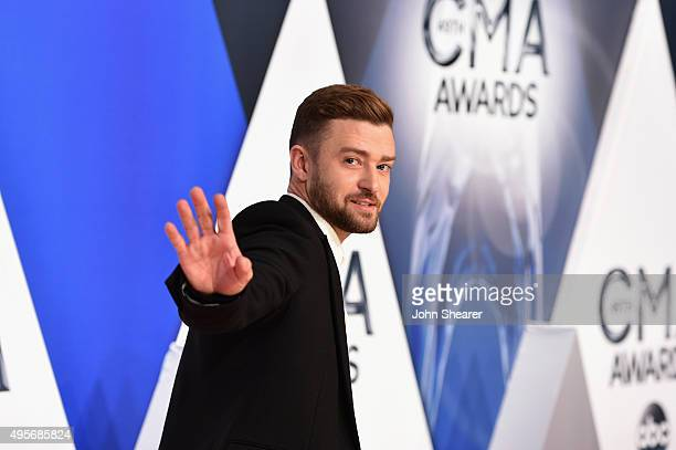 Musician Justin Timberlake attends the 49th annual CMA Awards at the Bridgestone Arena on November 4, 2015 in Nashville, Tennessee.